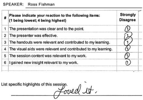 speaker evaluation form firm speakers the trouble with speaker evaluation