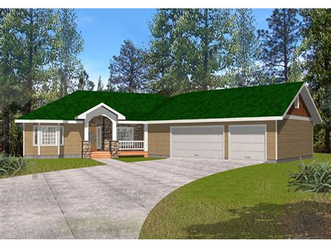 Fox Run Country Ranch Home Plan 088d 0281 House Plans Ranch Home Plans With Angled Garage