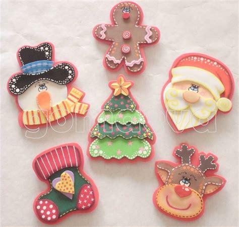 imagenes navidad en foami figuras recuerditos apliques en foami para decorar