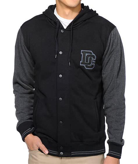 Jaket Flace Dc Batik dc route black hooded varsity tech fleece jacket at zumiez pdp