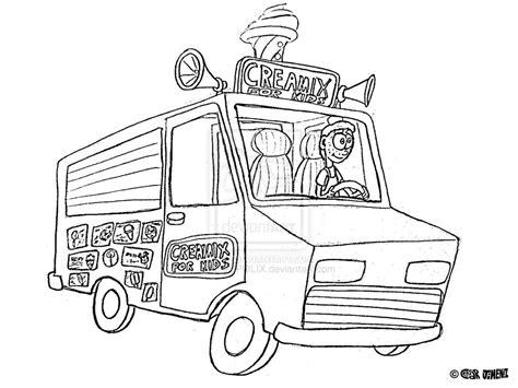 ice cream truck coloring page creamix ice cream truck by jimenopolix on deviantart