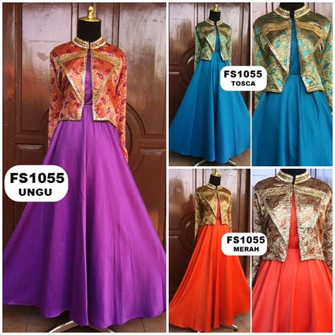 Maxi Sari Bordel Asli Bahan Sifon mode baju gamis mirip dian pelangi di fika shop fika shop