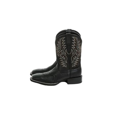 black ariat boots for ariat s sport black leather cowboy boots