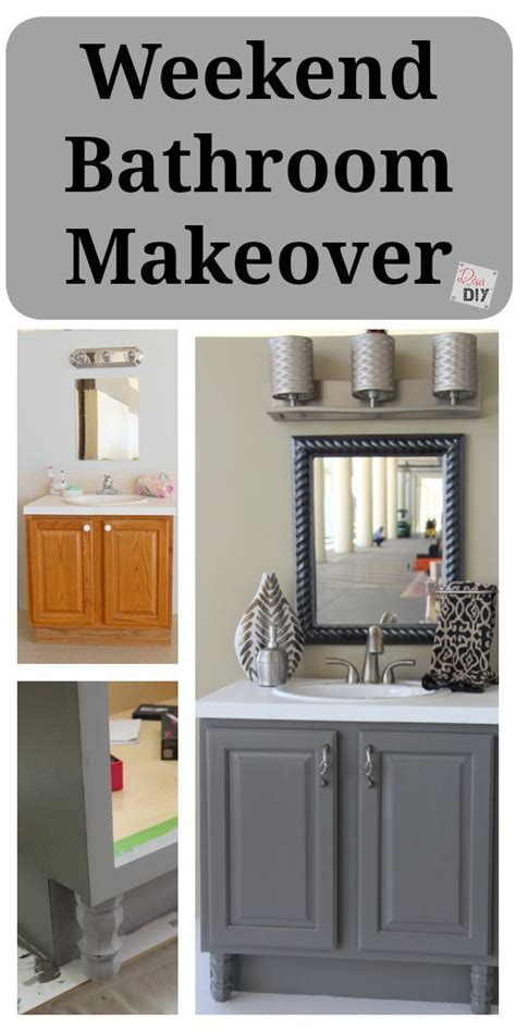 Ideas For A Bathroom Makeover 4 diy bathroom ideas that are quick and easy l grey