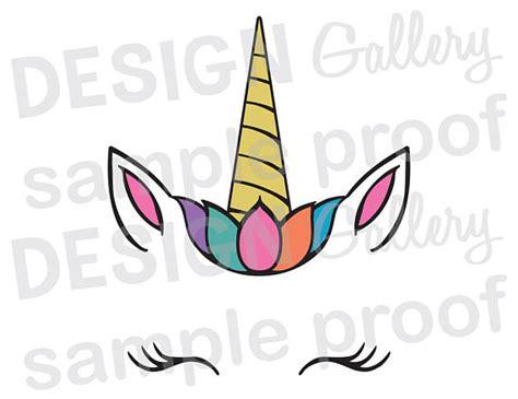 printable unicorn face unicorn face jpg png svg dxf cut file printable birthday