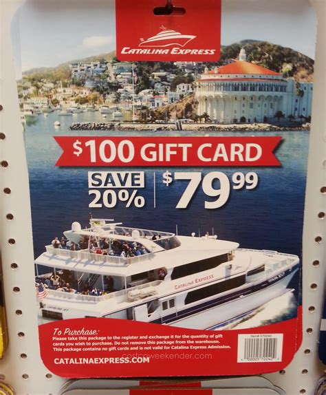Costco Gift Cards California - catalina express 100 gift card for 80 costco weekender