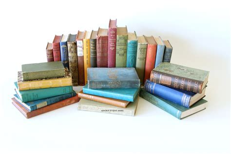 a picture of books vintage books