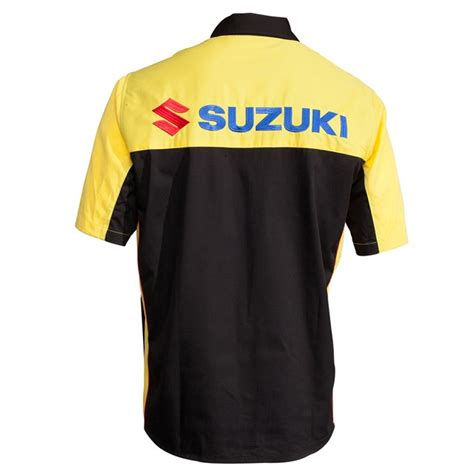 Suzuki Apparel Catalog Black Yellow Pit Shirt Cheap Cycle Parts