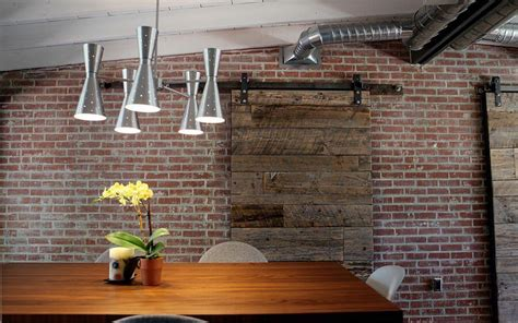 Exposed Brick Walls In 10 Cool Dining Room Design Ideas Brick Wall Dining Room