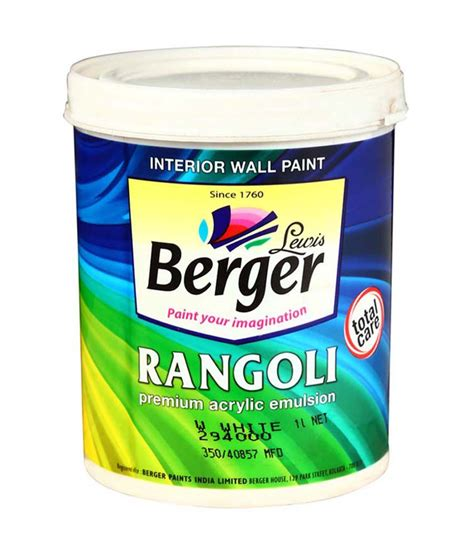 buy berger rangoli premium acrylic emulsion at low price in india snapdeal