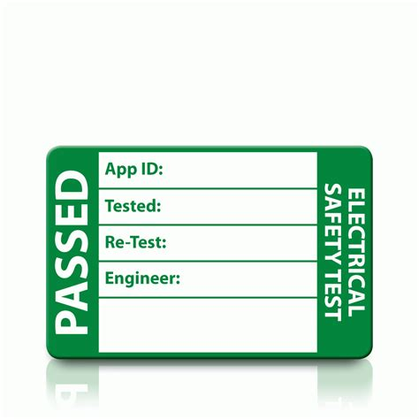 Risk Assessment Method Statement For Pat Testing Test Label Template