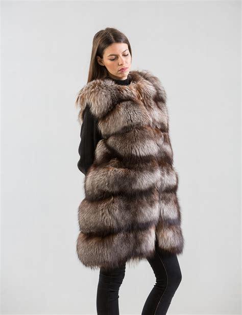 fox fur vest haute acorn
