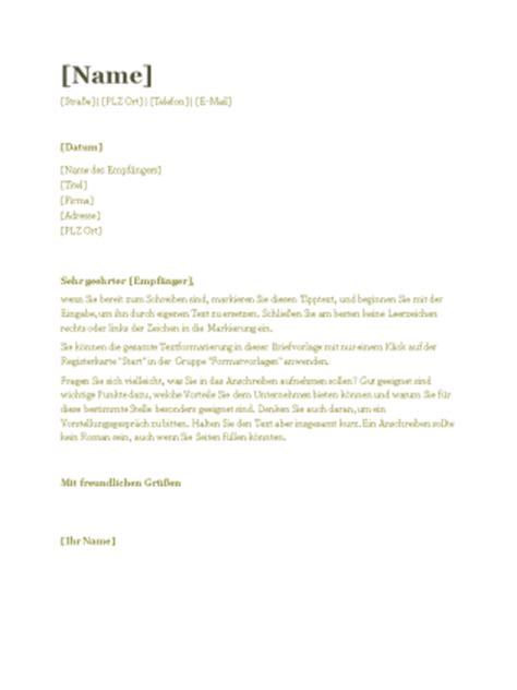 Lebenslauf Und Anschreiben Layout Anschreiben F 252 R Lebenslauf Design Quot Gr 252 N Quot Office Templates