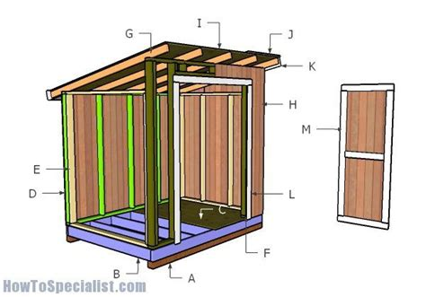 lean  storage shed plans howtospecialist