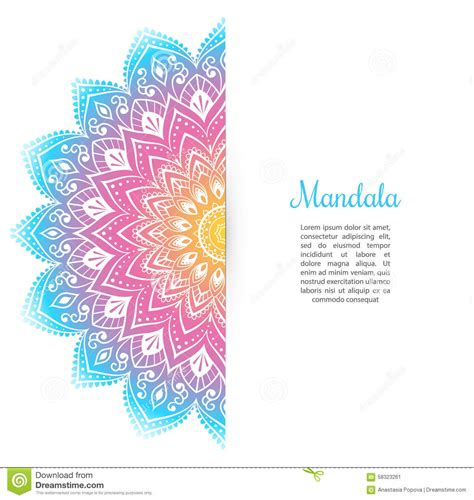color with a color mandala background template stock vector image