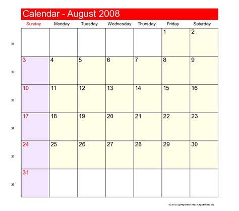 August 2008 Calendar August 2008 Catholic Saints Calendar