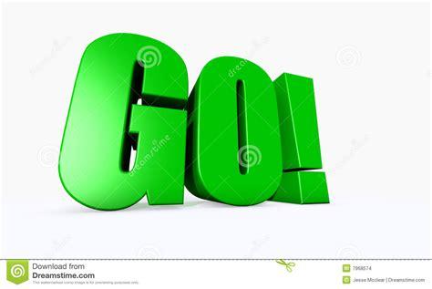 www go 3d illustrated word go stock illustration illustration