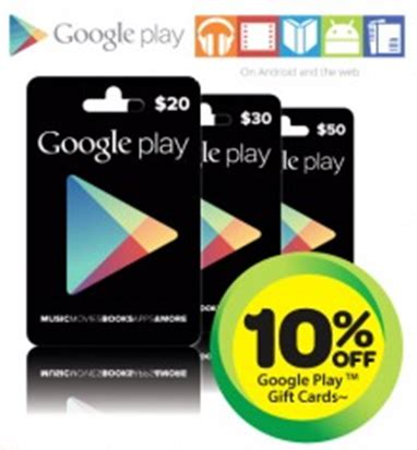 Google Play Gift Card On Sale - google play gift cards 10 off at woolworths from wednesday 4th of december ausdroid