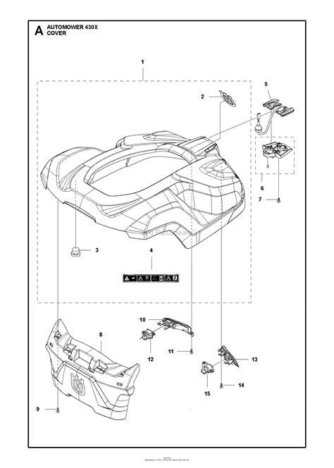 husqvarna automower    parts diagram  cover