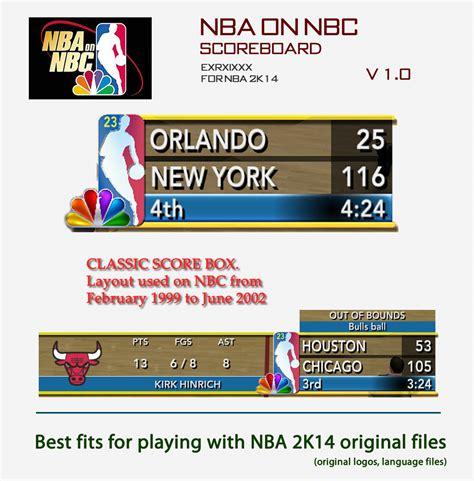 Mba Cbs Scores by Nlsc Forum Downloads Nba On Nbc Scoreboard