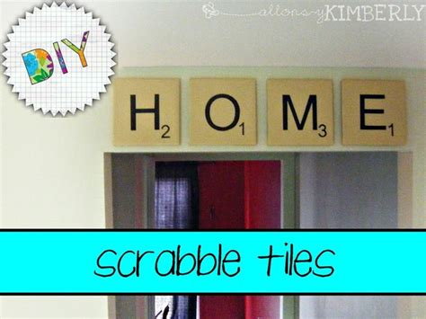 make your own scrabble scrabble letter tiles crafts