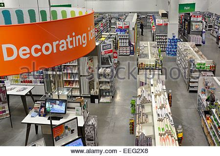 the interior of a homebase diy store stock photo royalty