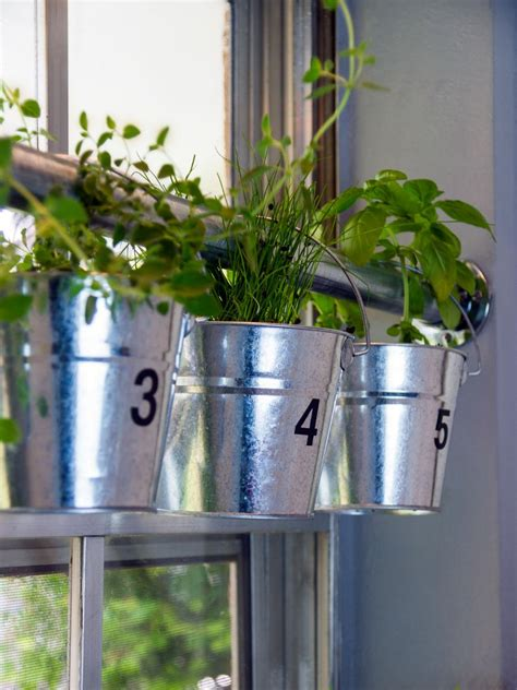 hanging window herb garden do it yourself window mounted hanging herb garden hgtv