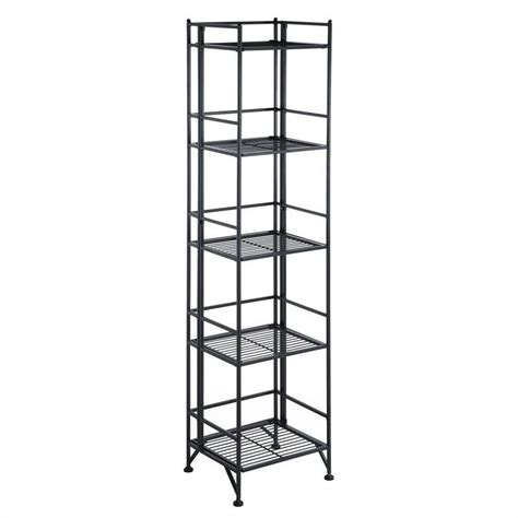 Folding Metal Shelf 5 tier folding metal shelf black 8016b