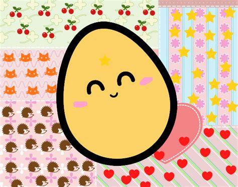imagenes de huevos kawaii dibujo de huevito kawaii pintado por diana345 en dibujos