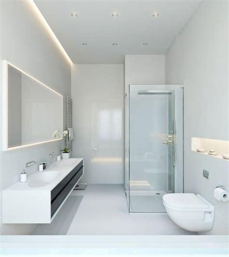 bad mit bd indirekte beleuchtung led badezimmer decke hinter spiegel