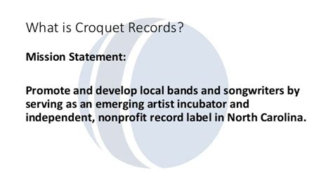 501c3 Records Croquet Records Nonprofit Record Label And Band Incubator