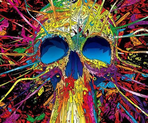 trippy colors trippy skull colors trippy skulls trippy