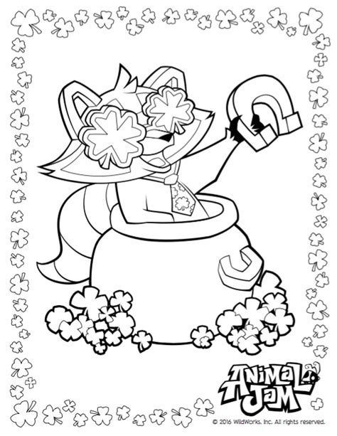 imagenes de animal jam para colorear lucky day coloring pages animal jam academy