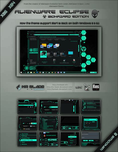 eclipse themes windows 8 alienware eclipse biohazard win 8 8 1 by mr blade on