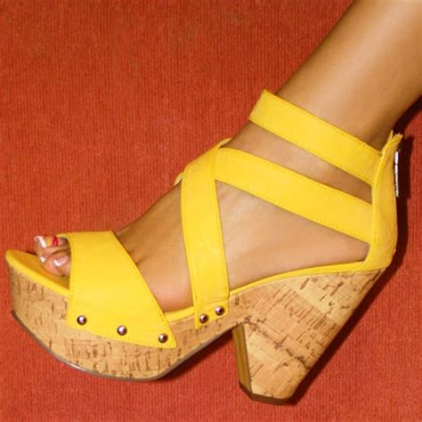 yellow wedge sandals wedge sandals