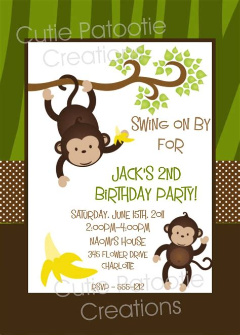 best 25 monkey invitations ideas on pinterest monkey