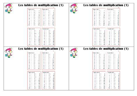 les table de multiplication de 1 a 12 tables de multiplication ce1 le 231 on pass education