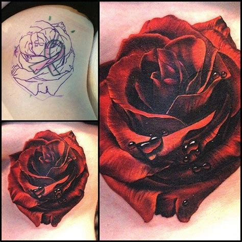 rose coverup tattoo 25 best ideas about cover up tattoos on black