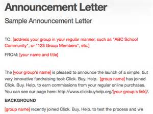 Announcement letters word templates