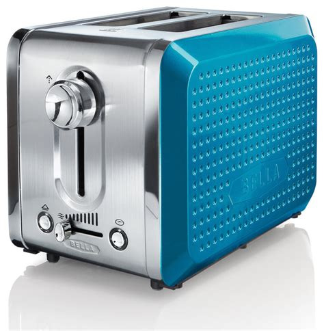 Teal Blue Toaster Dots Teal 2 Slice Toaster Contemporary Toasters