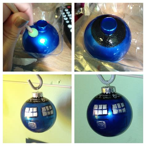 doctor who christmas diy diy painting and staining glass ornaments hey hey k