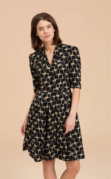 emily  fin rose dress graphic gold star