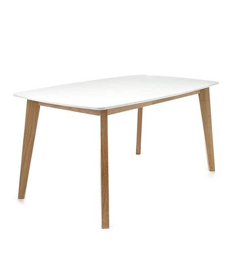 tavolo bianco tavolo allungabile rettangolare design scandinavo legno