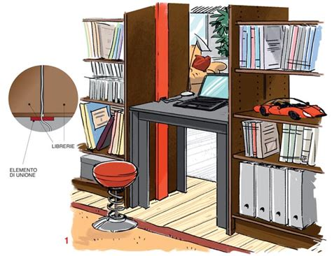 idee libreria fai da te libreria divisoria fai da te bifrontale idee ed esempi