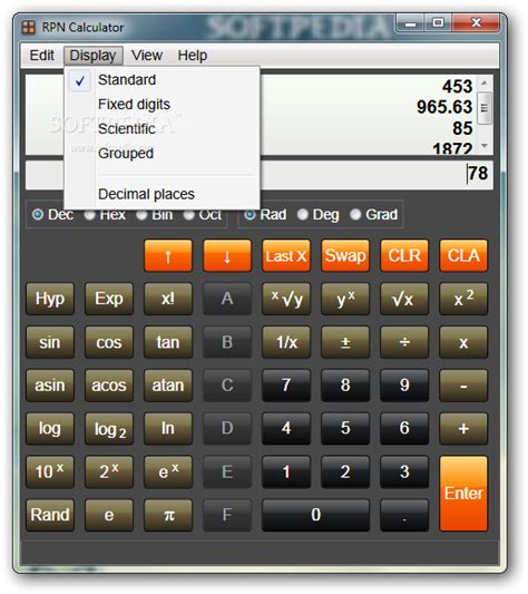 calculator you can use rpncalculator formerly rpncalculatornet download