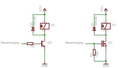 vorwiderstand transistor bc547 relais mit logik ansteuern mikrocontroller net