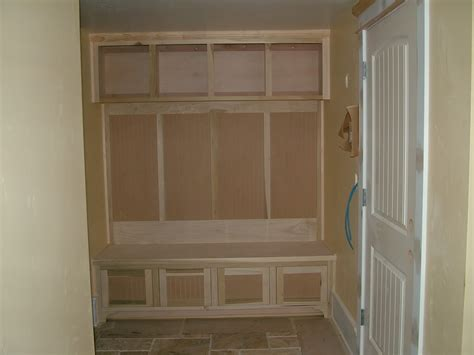 Diy Build Kitchen Cabinets by Entryway Lockers With Bench Building Plan Stabbedinback