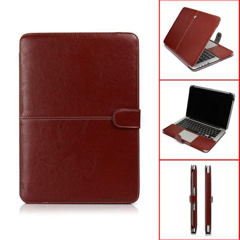 Laptop Macbook Pro Air leather laptop sleeve bag cover for macbook air 11 13 pro retina 13 15 ebay