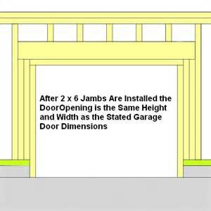 door frame frame garage door opening
