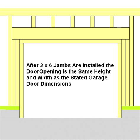 framing a garage door door frame frame garage door opening